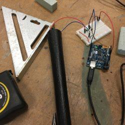 Vibrating Motor running through bat